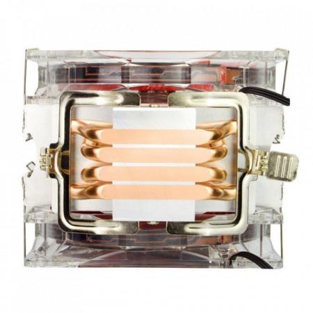 Cooler CPU Alseye Eddy 120 Red, 2x 120mm, 4-pin