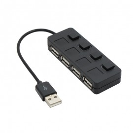 Hub USB 2.0, 4 porturi, negru/alb