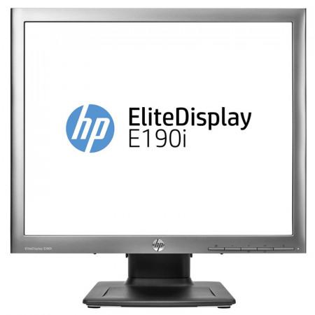 Monitor LED HP EliteDisplay E190i, 1280x1024, DVI, VGA, DisplayPort, Cabluri incluse