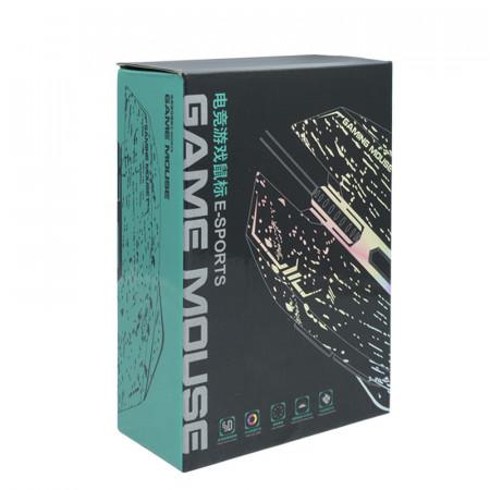 Mouse Gaming ZornWee 6D, Optic, USB, 4800 DPI, 6 butoane, Negru