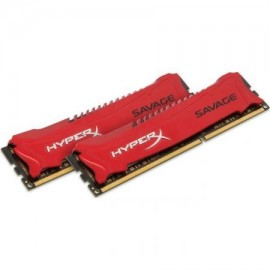 Poze Kit 16GB DDR3 1600MHz HyperX Savage Red (2 x 8GB)