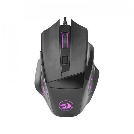 Mouse Gaming Redragon Phaser, 3200 dpi, Optic, 6 butoane, Iluminare LED multi-color