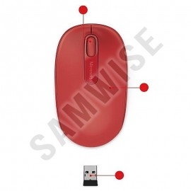 Poze Mouse Microsoft Mobile 1850, Wireless, 1000DPI, Red
