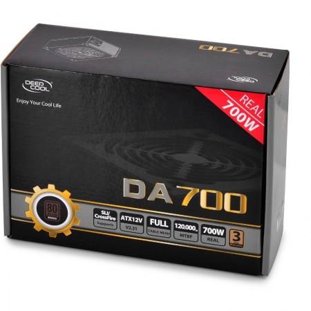 Sursa Deepcool 700W DA700, 5x SATA, 4x 6+2 PCI-E, 4x Molex, PFC activ, 80+