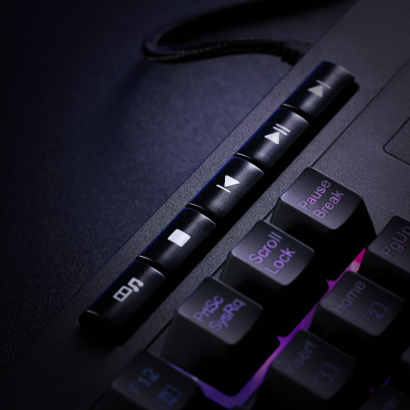 Tastatura Gaming Redragon Shiva RGB, Palm rest detasabil, Iluminata