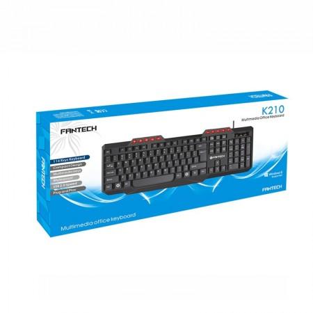 Tastatura Multimedia FanTech K210, USB, 114 taste, cu fir