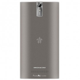 "Poze Telefon Mediacom PhonePad Duo X550U, 5.5"" IPS, Quad Core 1.3GHz, 1GB RAM, 16GB, 13MP, Dual Sim Rubber Silver"