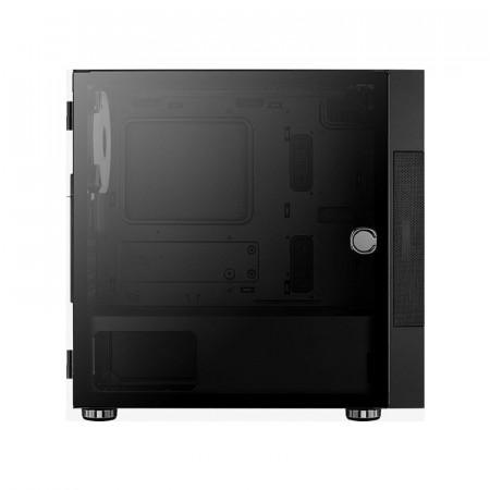 Carcasa Gaming Aerocool Atomic ARGB, MiniTower, 2x USB 3.0, Panou transparent
