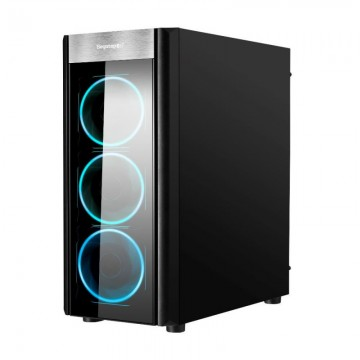 Carcasa Gaming Segotep Wider X3 Black, Middle Tower, 2x USB 3.0, Ventilatoare Blue LED