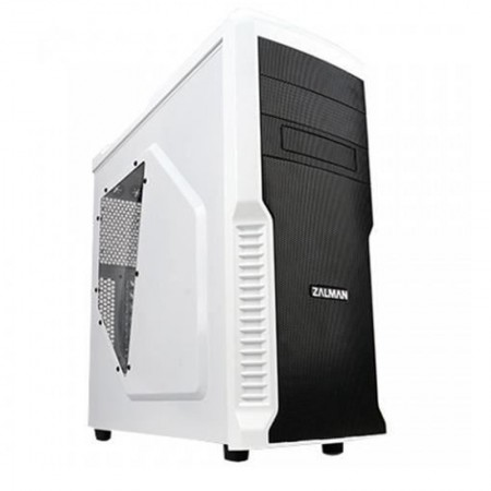 Carcasa Gaming Zalman Z3 Plus White, Vent. 4x 120 mm, USB 3.0, Panou transparent