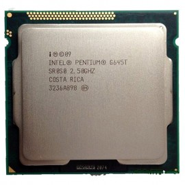 Intel Pentium G645T 2,5GHz, Socket LGA1155 3MB Smart-Cache, 64-Bit, HD Graphics