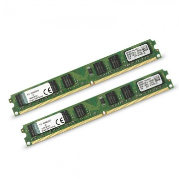 Poze KIT Memorie 2x 2GB Kingston, DDR2, PC2-6400, 800MHz, Slim