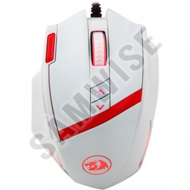 Poze Mouse Gaming Redragon Mammoth White, Laser, 16400 DPI, 12000 FPS, 10 butoane