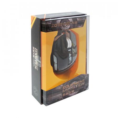 Mouse Gaming ZornWee GX10, Optic, USB, 2400 DPI, 6 butoane, Negru