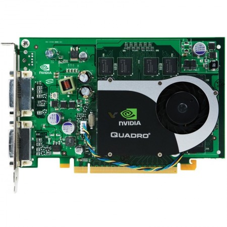Placa video NVIDIA QUADRO FX370 256MB DDR2 64BIT, 2x DVI
