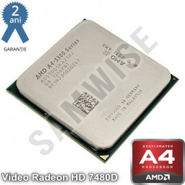 Procesor AMD A4 X2 5300, 3.4GHz (Turbo 3.6GHz), Socket FM2, Video Radeon HD 7480D