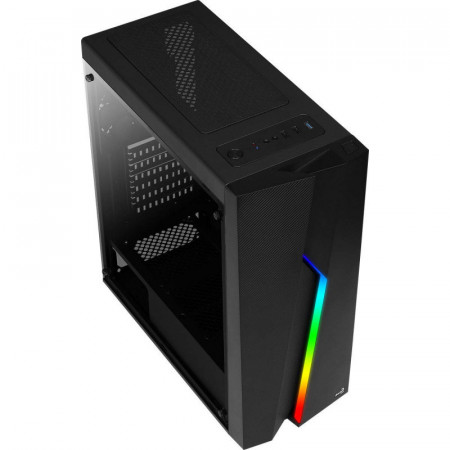 Carcasa Gaming Aerocool Bolt RGB, MiddleTower, USB 3.0, Panou transparent