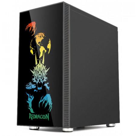 Carcasa Gaming Redragon SteelJaw Pro, MiddleTower, Panou transparent, USB 3.0, 4x 120mm, RGB Led