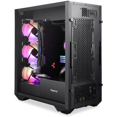 Carcasa Gaming Segotep Argus, USB 3.0, Panou Transparent