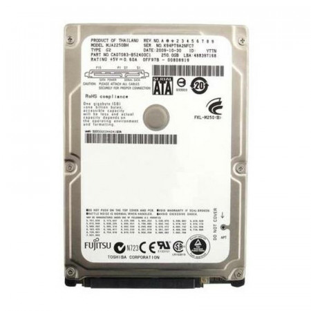 Hard disk Laptop 250GB Fujitsu MJA2250BH, SATA II, Buffer 8MB, 5400rpm