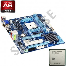 Poze KIT Placa de baza Gigabyte GA-A75M-D2H + AMD A6 3650 2.6GHz Quad Core, Video Radeon HD 6530D