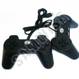 Set 2x GamePad pentru PC, cu vibratii, negru