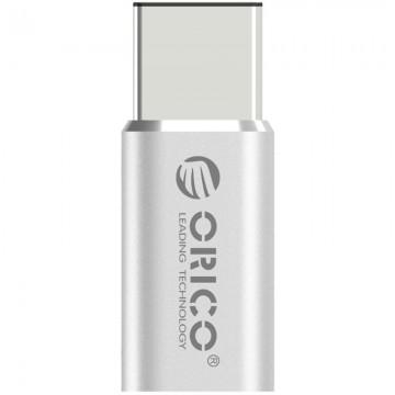 Adaptor Orico CTM1 USB 2.0 Tip-C Male - Micro USB Female Silver