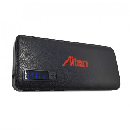 Baterie externa Alien, 15000 mAh, microUSB, 2x USB, Afisaj, Negru