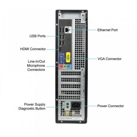 Calculator DELL 390 DT, Intel Core i3 2100 3.1GHz, 4GB DDR3, 250GB, DVD-ROM