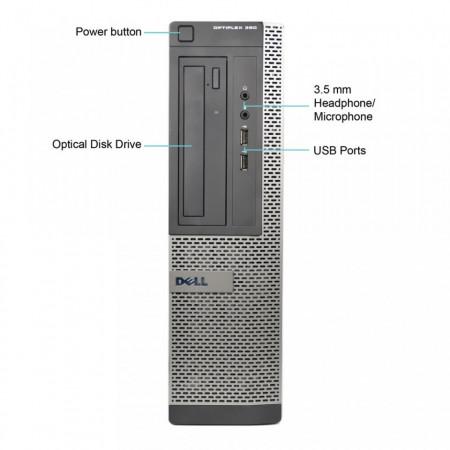 Calculator DELL 390 DT, Intel Core i3 2120 3.3GHz, 4GB DDR3, 250GB, nVIDIA GT 605 1GB DDR3, DVI, DisplayPort, DVD-RW