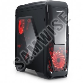 Poze Carcasa PC Games Segotep Blade Black, USB3.0, interior negru, 2x Vent. inclus
