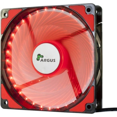 Ventilator Inter-Tech Argus L-12025 Red LED Fan