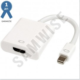 Adaptor DeTech mini DisplayPort tata- HDMI mama, Alb