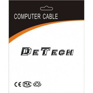 Cablu DeTech HDMI tata - HDMI tata, 5m, Impletit, Calitate superioara, Ecranat cu ferita, Contacte aurite