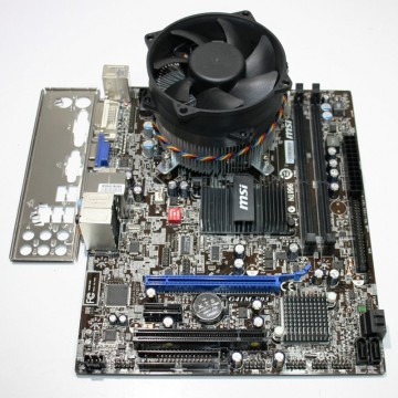 Poze Kit Placa de baza MSI G41M-S03, Intel Core2Duo E8400 3GHz, Cooler inclus