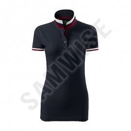 Malfini Tricou Polo de dama Malfini Collar up Dark Navy