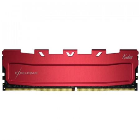Memorie RAM Desktop Exceleram Red Kudos 8GB DDR4, 3600 Mhz, CL18, 1.35V
