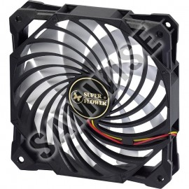 Poze Ventilator Super Flower SF-F102-BKW 120mm, 1400 RPM, 61.7 CFM, conector 3-pin
