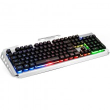 Tastatura Gaming Newmen GM816 black-silver, Iluminata LED RGB, Wired, USB