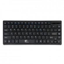 Mini Tastatura Multimedia USB, Fantech K3M, slim 84 taste, design compact, Negru