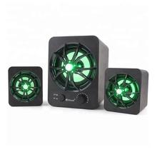 Boxe Kisonli 2.1 U-2600, 5W+2x 3W, alimentare USB, 1x jack 3.5mm, Negru
