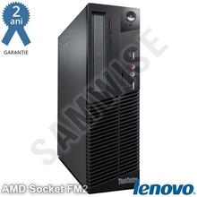 Calculator Lenovo M78 SFF, AMD QuadCore A8-5500B 3.2GHz, 4GB DDR3, 250GB, DVD-RW, Card reader