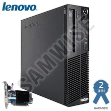 Calculator Lenovo M82 SFF, Intel Pentium G630 2.7GHz, 4GB DDR3, 250GB, Video ATI HD5450 512MB 64-Bit, HDMI, DVI, VGA, DVD-RW