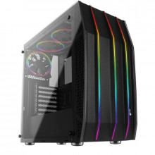 Carcasa Gaming Aerocool Klaw RGB, MiddleTower, USB 3.0, Panou transparent