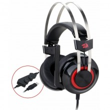 Casti Gaming Redragon Talos Black, Sunet surround 7.1, Telecomanda pe fir, USB, Difuzoare 40mm, Impedanta 16Ohm
