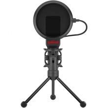 Microfon Redragon Seyfert cu stand, Condenser