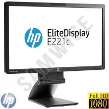 "Monitor LED 21.5"" HP Elitedisplay E221C, 1920 x 1080, 7ms, VGA, DVI, DisplayPort, Camera WEB, Cabluri Incluse"