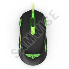 Mouse Gaming Newmen N8000 Black, 4000 dpi, Wired, Acceleratie 10G, Iluminare LED