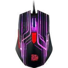 Mouse Gaming Tt eSPORTS by Thermaltake Talon Black, Optic, USB, 3000 dpi, 6 butoane, Iluminare LED Multi-color