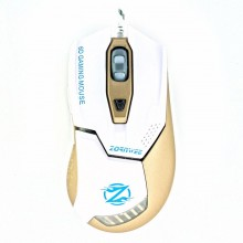 Mouse Gaming ZornWee Z1, Optic, 2400DPI, Iluminare LED, Alb
